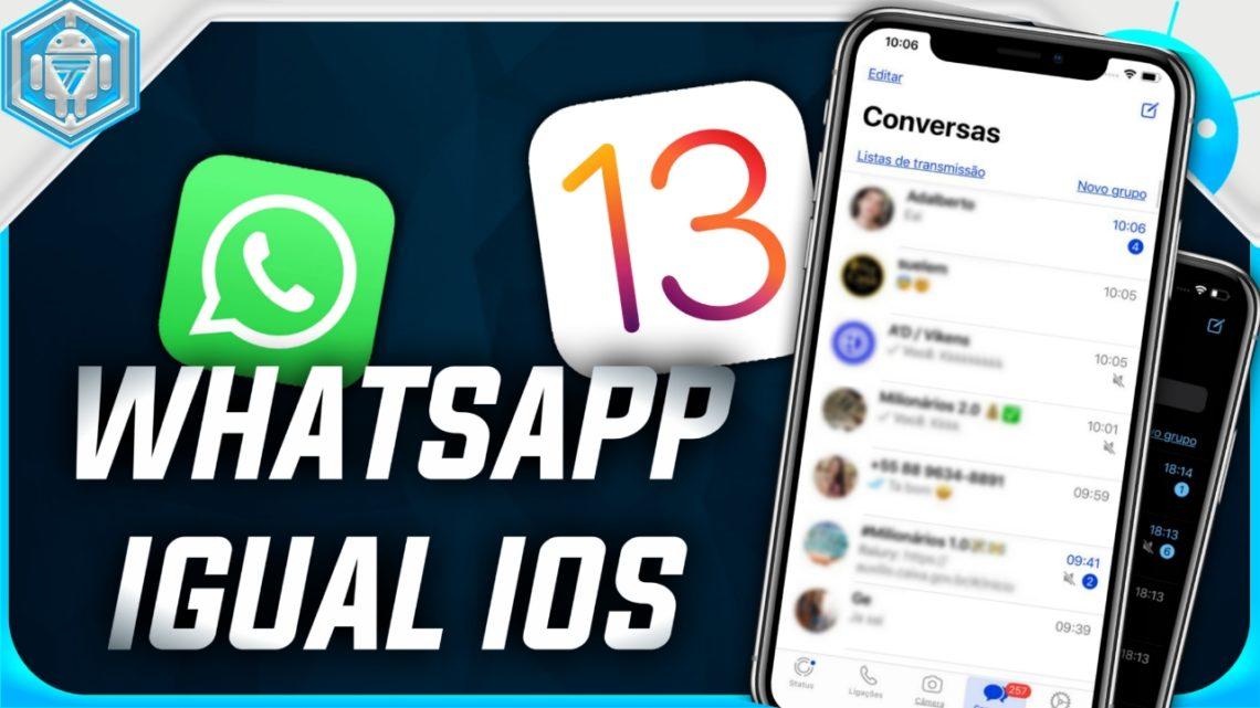 Conheça O MC WhatsApp Agora Com Tema Igual IOS 13