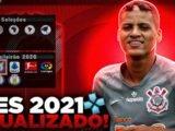 PES 2021 COM O BRASILEIRÃO ATUALIZADO E COM NOVAS LIGAS ATUALIZADAS