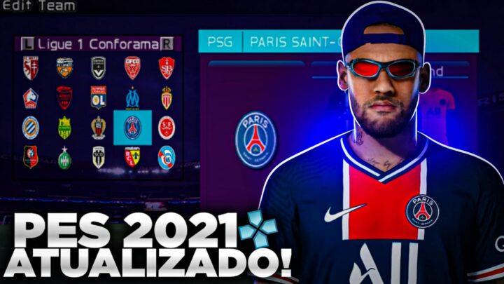 PES 2021 PARA EMULADOR PPSSPP ATUALIZADO