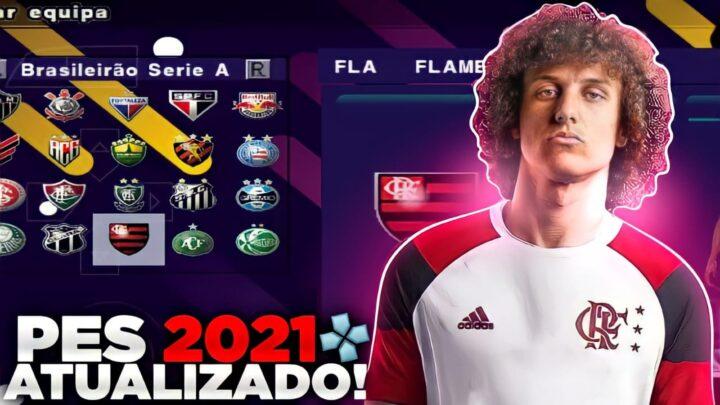 PES 2021 COM BRASILEIRÃO E EUROPEU ATUALIZADO