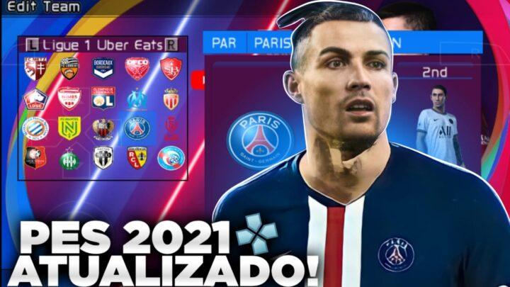 PES 2021 TOTALMENTE ATUALIZADO PARA EMULADOR PPSSPP