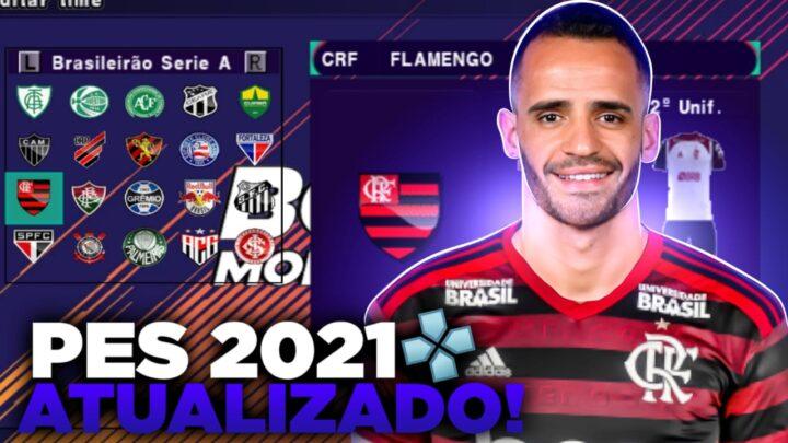 PES 2021 COM BRASILEIRÃO 100% ATUALIZADO