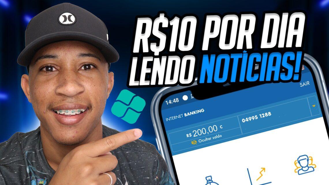 R$ 10 POR DIA!! NOVO APLICATIVO PAGANDO NO PIX PARA (LER NOTÍCIAS) Ganhar dinheiro online